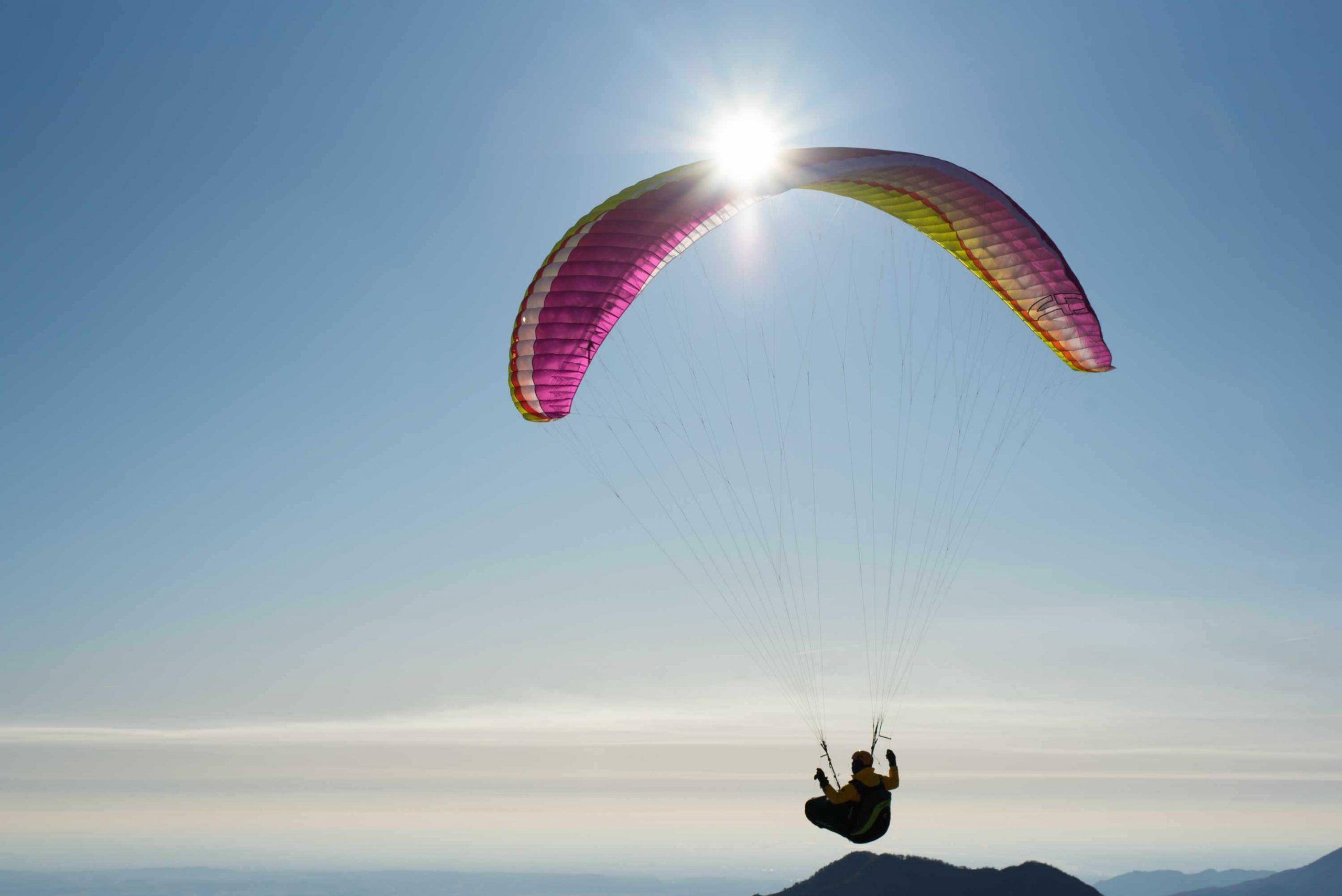 AirDesign Rise 4 lilack over Meduno, Italy